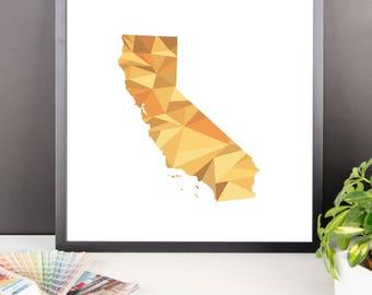 CALIFORNIA State Pattern Map Print, California Poster, California Wall Art, California Art, California Gift, California Decor, California