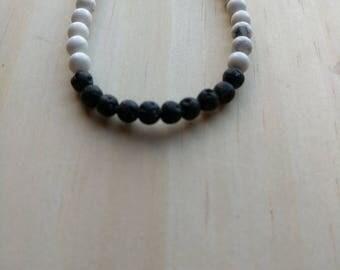 Tiny Howlite LAVA Diffusser Bracelet, gift for her, lava bracelet, howlite bracelet, Valentine gift
