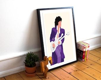 Prince Poster / music legend / Art Print / Purple Rain / Art Poster Print / Wall Art / Home Decor / Music Poster
