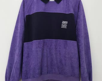 Adidas Vintage Adidas / Adidas Sweat violet / made in France Sweat / Polo homme / chemise polo manches longues / 90 s sweatshirt