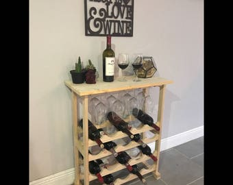 Wood Wine Rack - Handmade - Holds 20 bottles!