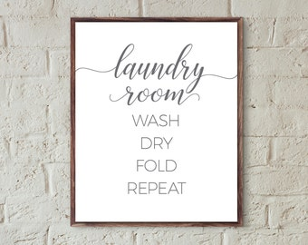 laundry print quotes laundry room decor printable laundry wash dry fold repeat laundry room signs prints laundry wall art instant download