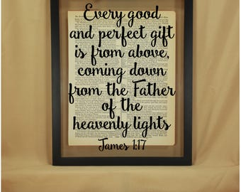 James 1 17, James 1, James 1 17 Signs, Every Good and Perfect Gift, Christian Baby Gift, Religious Baby Gift, Scripture Baby, Bible Verse