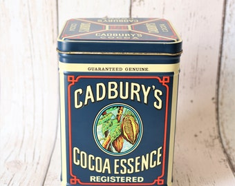 Retro Cadbury's Cocoa Essence Tin - Retro Storage