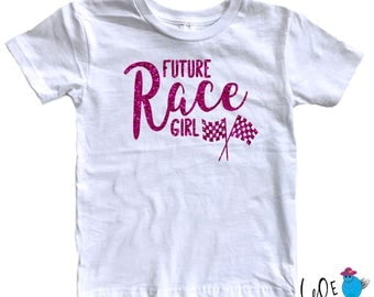 Race Girl Toddler Tee - Race Girl - Racing Fan - BMX Racing - Nascar Racing - Motocross Racing - Little Race Fans - Nascar Fans - Toddler