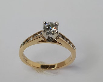 Engagement Ring, Diamond Engagement Ring, Diamond Ring,  Solitaire Ring, Women Engagement, Free Shipping,  Solitaire Ring Gold, Wedding Ring