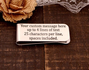 Create your Own Custom Money Clip. Christmas Present / Wedding Party Gift, Gift for DAD, Husband, Father, Grandfather, Son, Graduation, fun