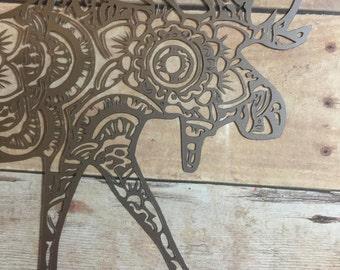 Moose Mandala Vinyl Decal for Yeti Cups, Laptops, Phones & More - You Choose Pattern + Color