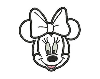 Digital Download Minnie Mouse Applique Design - 3,4,5,6,7 inch size, Minnie Mouse Applique - INSTANT DOWNLOAD