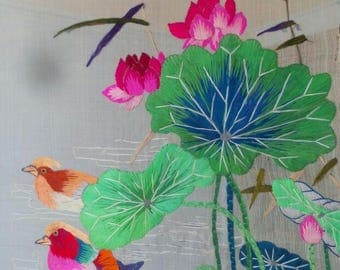 Very light and thin Chinese traditional silk embroidery