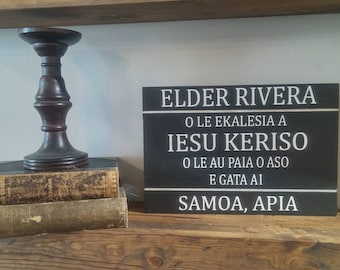 Customize Your Missionary Plaque, Home Decor, Wall Hanging, Keepsake, LDS Missionary, Missionary Tag, Personalized