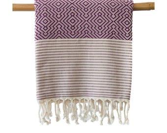 Free Shipping OTIS Magenta Turkish Towel Peshtemal