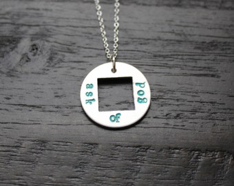 Ask Of God Necklace//LDS Jewelry//Hand Stamped Jewelry//Custom Jewelry//LDS Young Womens//LDS Youth Theme 2017//Young Mens//