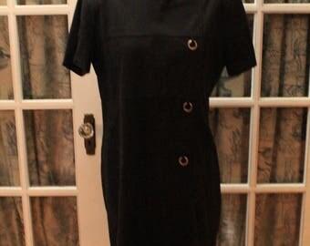 1980's Microsuede Gloria Vanderbilt Dress