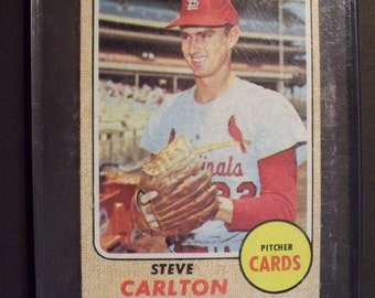 1968 Topps Baseball** STEVE CARLTON** Hall Of Fame ** St Louis Cardinals #408 EXMT