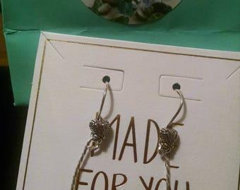 Sodalite Antiqued Sterling Silver Earrings