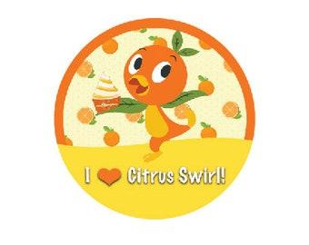 Sunshine Tree Terrace Button - The Orange Bird Button - Citrus Swirl Pin - Theme Park Button - Florida Orange Bird Pin - Disney Park Button