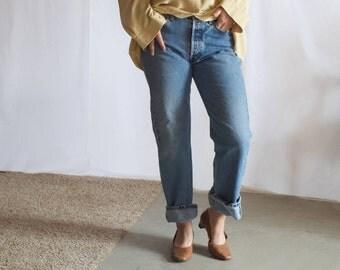vintage 1990s liz claiborne ivory silk blouse / oversized silk beige blouse / minimal pale yellow button down / us 14 / s / m / l / xl