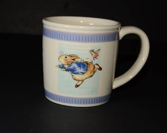 Wedgwood, collectible, Beatrix Potter, Peter rabbit, small mug, Vintage, mint, The World Of Beatrix Potter, Children Coffee Tea Mug Cup