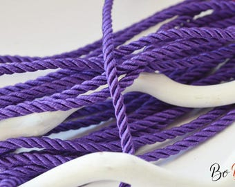 Purple twisted twisted cord. 4mm. 50 cm