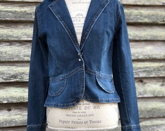 vintage denim jacket | womens size medium