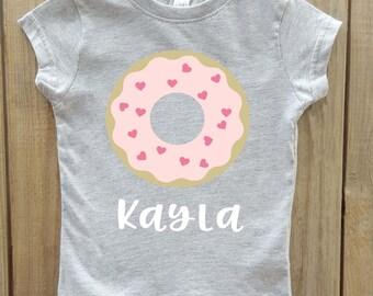 Donut Shirt, Donut toddler Shirt, Personalized Girl shirt, donut birthday, donut party, donut onesie, donut party top, Donut birthday party