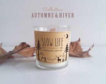 SLOW LIFE (fragrance choice) soy wax scented candle