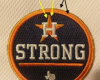 "2.5 inch Patch Houston Strong Patch Baseball Jersey Patch -2.5"" Official Size for jerseys!  Astros World Series"