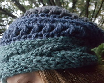 Colorblock Slouchy Hat