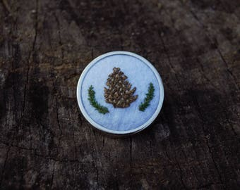 pine cone pin