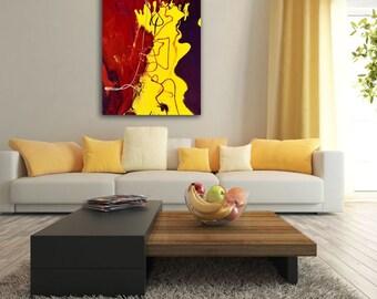 OCTOPUS RESPECT • Original Abstract Painting • Fluid Art