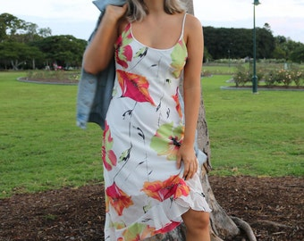 Floral Spaghetti Strap Midi Summer Dress