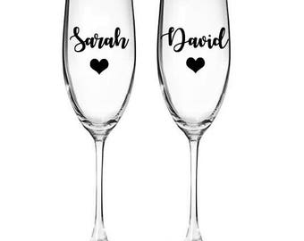 Wine Glass Name Tag Etsy UK - Vinyl decals for wine glasses uk