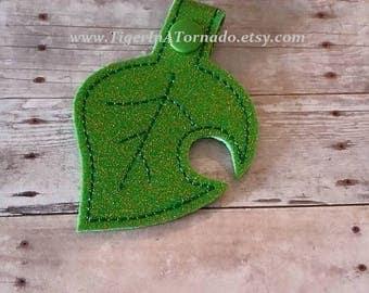 New Leaf Snap Tab Keychain