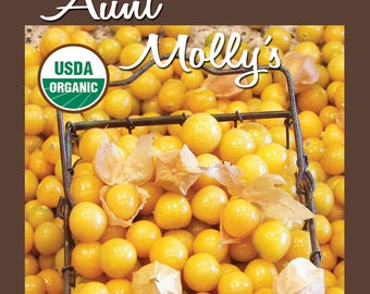 Aunt Molly's Ground Cherry 25 ct packet CERTIFIED ORGANIC