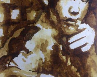 Portrait of Bruce Lee coffee [Original]