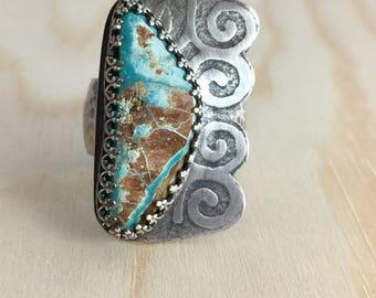 Royston Ribbon Turquoise ring size 10