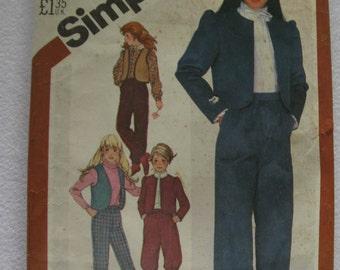 Vintage 1982 Simplicity Pattern 5626 Girls 7