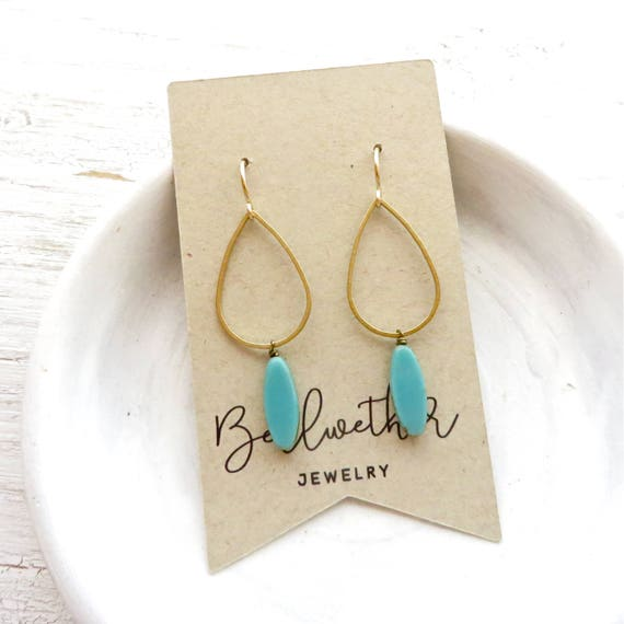 Balance Earrings > Turquoise