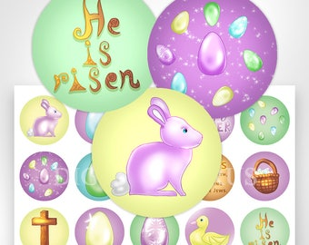 Easter Bottle Cap Images Collage Sheet Download