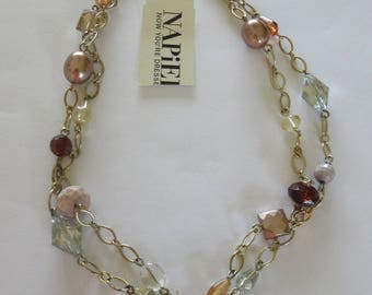 Vintage Napier Cafe Aulait Necklace with Tag