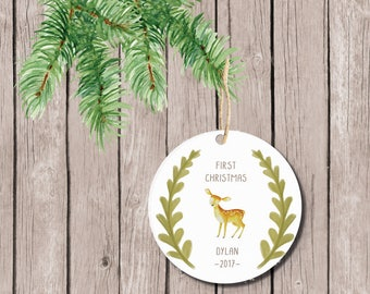 Baby's First Christmas Ornament, Christmas Ornament Baby's First, Ornament Baby's First, Baby's First Christmas Ornament, Personalized, Boy