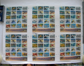Full sheet US stamps Classic US Aviation - mint condition