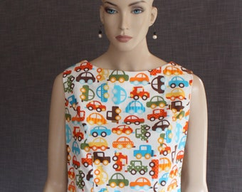 blouse / cotton / vintage style / fifties / sixties / handmade / designer / OOAK / classic / pinup / crop blouse / sleeveless / summer