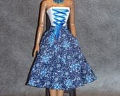 Indigo * Ooak  Body corset and skirt for 16' Tonner Dolls by L'Atelier de Rosy