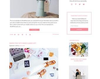 Blog Design WordPress Blog Theme - Watercolor WordPress Design - Blog Design and Installation - WordPress Template - April - WCPSD 7
