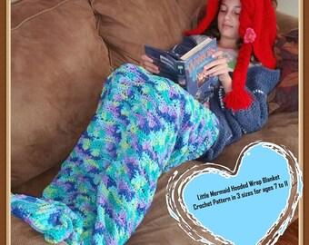 Little Mermaid Hooded Wrap Blanket