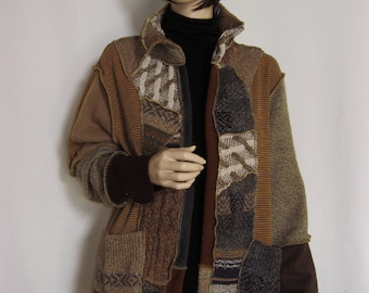 Reserved for Veronika  XL Open Scrappy Jacket