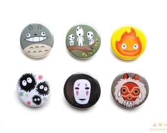 Studio Ghibli Button Set