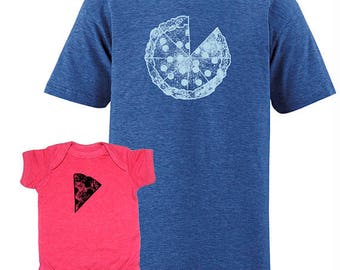 Father Daughter Matching Pizza Father Baby or Youth Shirts, Pizza T shirts, Pizza Christmas Shirts, Dad Matching, father son gift for him